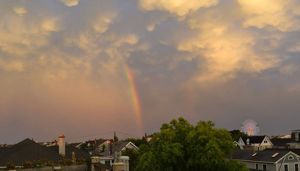 Rainbow from the Northwood Inn rooftop